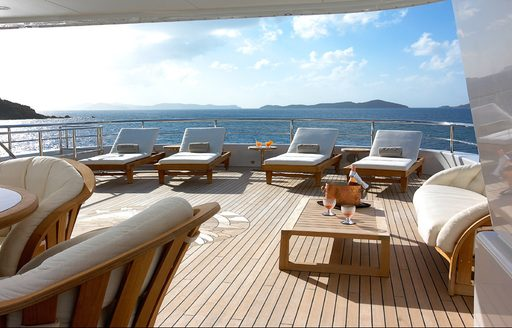 elements superyacht relaxation area