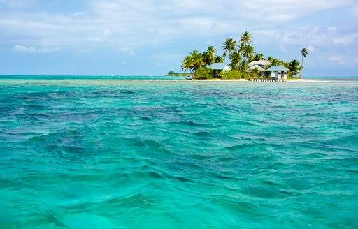 Troical island in Caribbean sea