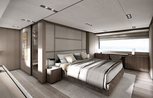 Master suite onboard MY Epic