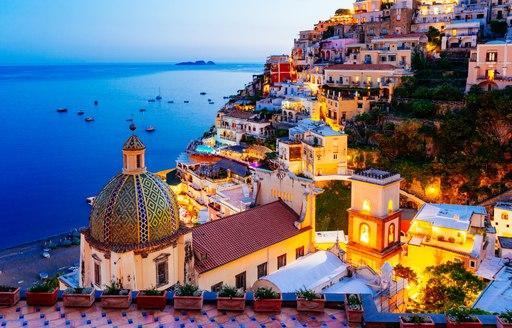 Positano in the Amalfi Coast at night