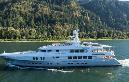motor yacht Chasseur appears at the Antigua Charter Yacht Show 2016