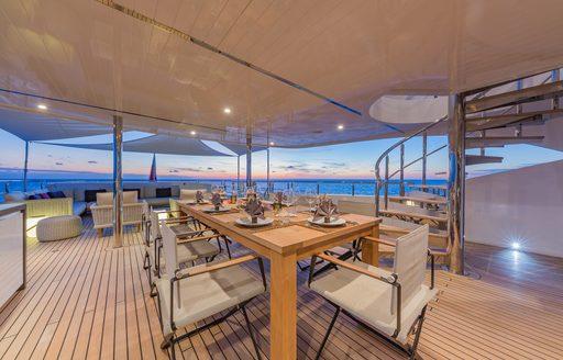Charter yacht Big Sky's exterior decks