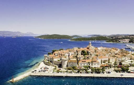 town of korcula in croatia