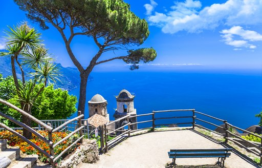 Views from Medieval town of Ravello on the Amalfi Coast