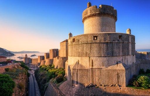 Turret along the city walls of Dubrovnik, Croatia