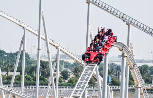Rollercoaster ride in Abu Dhabi