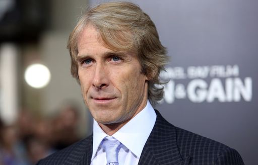 Director and producer Michael Bay in foreground, ahead of debut of Underground 6