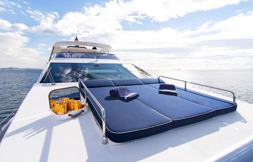 Luxury yacht Memories Too sun deck