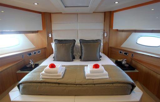 main salon on board luxury yacht FIRECRACKER