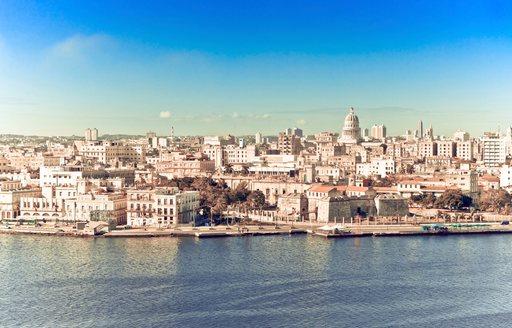 Coastline of Havana from the water