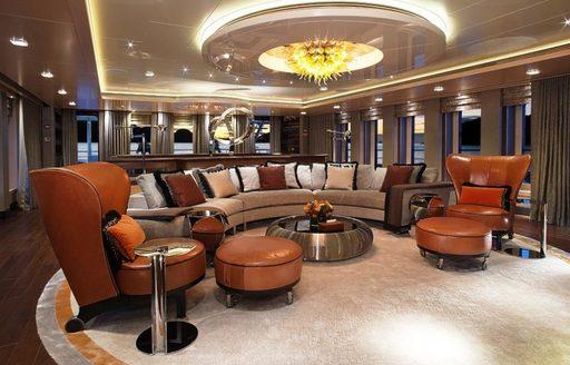 The interior of superyacht VICKY