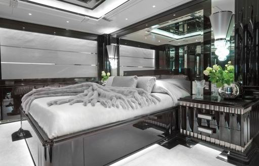 A stateroom on board superyacht 'Silver Angel'