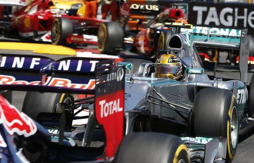Formula 1 cars compete in the Monaco Grand Prix