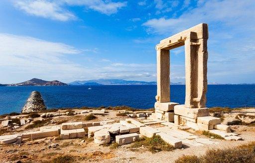 the portara of naxos in greece