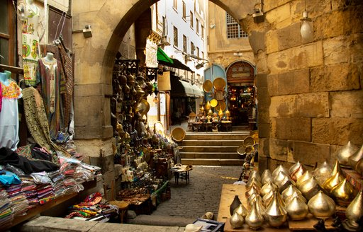 Colorful souk in Egypt