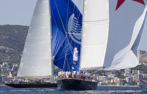 sailing yacht Bolero competes at the Palma Superyacht Cup, Mallorca