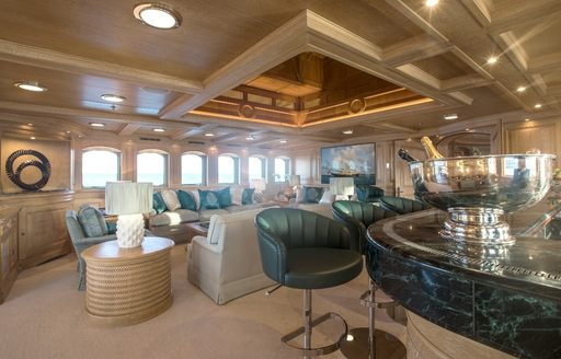 new bar in the skylounge of superyacht NERO