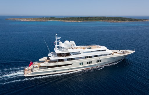 luxury yacht Coral Ocean appears at the Antigua Charter Yacht Show 2016