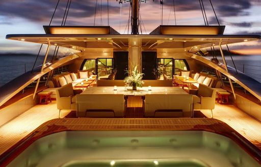 Glamorous outdoor deck space