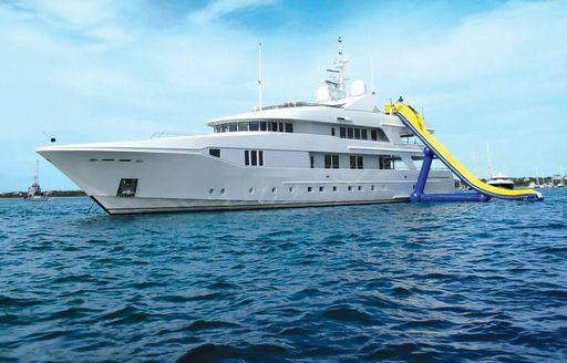 Charter yacht RHINO with slide