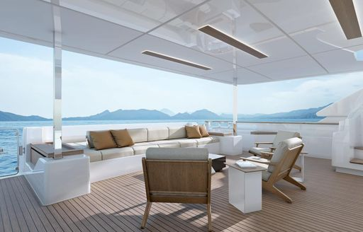 penelope yacht seating area