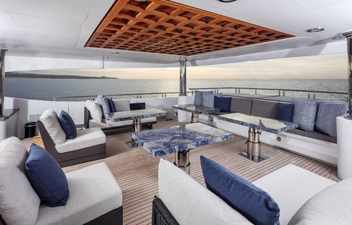 aft deck seating area on luxury yacht tsumat