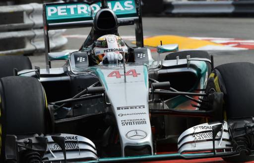 Lewis Hamilton in action at the Monaco Grand Prix