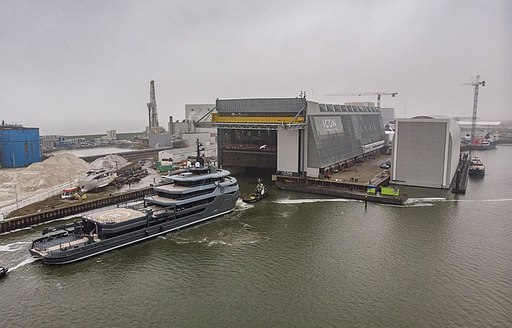 RAGNAR explorer yacht being launched