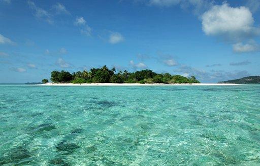 deserted tropical island in Papua New Guinea