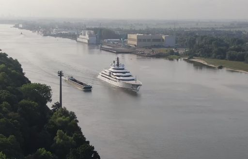 Megayacht Project Lightning heading out on sea trials