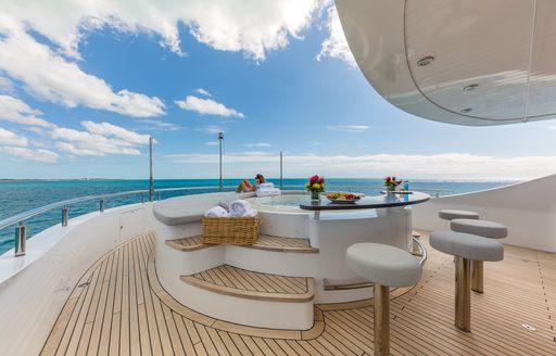 Charter yacht big sky's outdoor decks