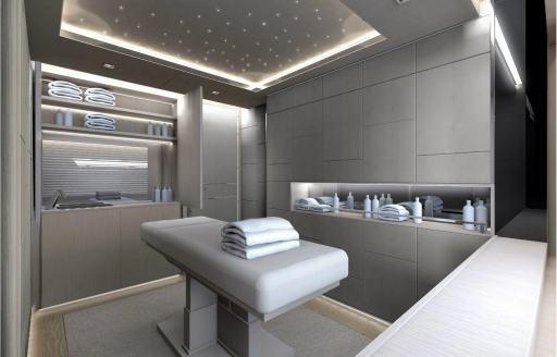 Massage room on Mangusta yacht AAA