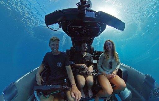 Submarine onboard explorer yacht Game Changer