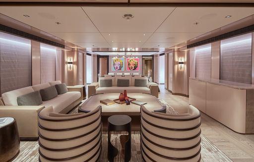 main salon on luxury yacht solemates