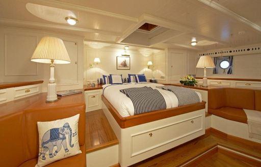 Stateroom onboard sailing yacht GERMANIA NOVA