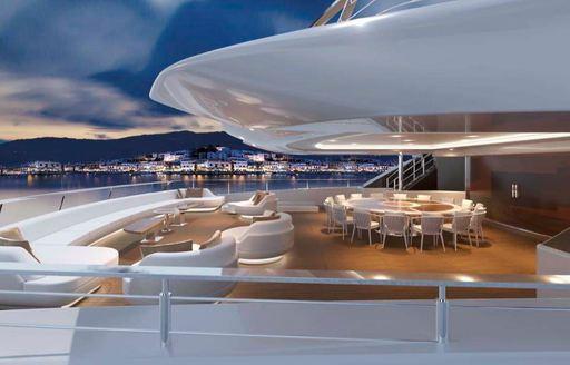 opari yacht aft deck alfresco seating area