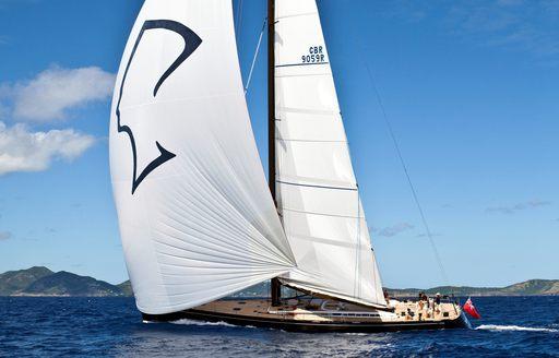The stunning SY Nefertiti sailing off the coast of Cannes