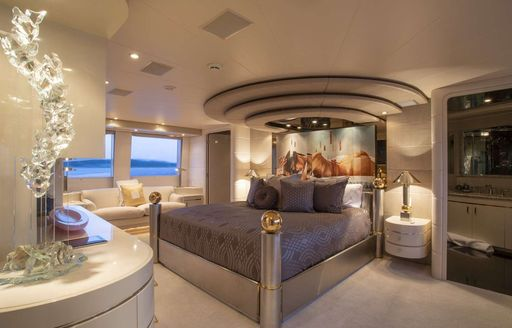 Main cabin on luxury yacht INVISION