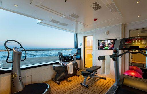 Gym onboard MY Lioness V