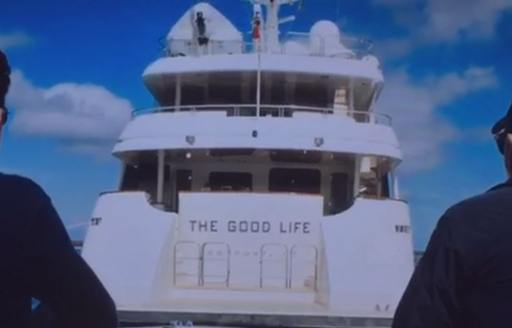 The aft deck and stern of the superyacht on Billions