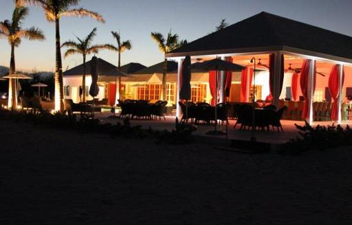 Bahamas restaurant treasure sands club at night