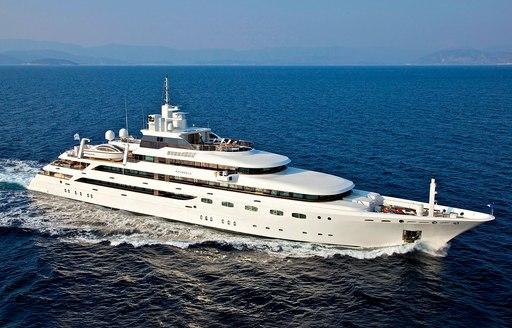 O'Mega superyacht cruising in waters