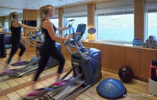 Gym onboard MY Victoria del Mar
