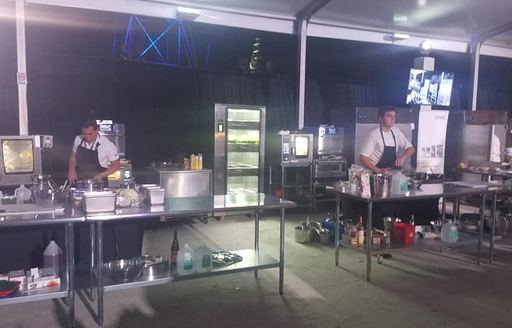 Fort Lauderdale Boat Show chefs slicing and dicing