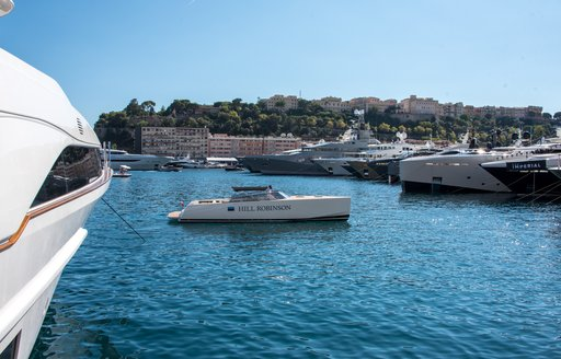tender in the water at the MYS 2021