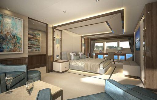 Master cabin onboard MY Princess AVK