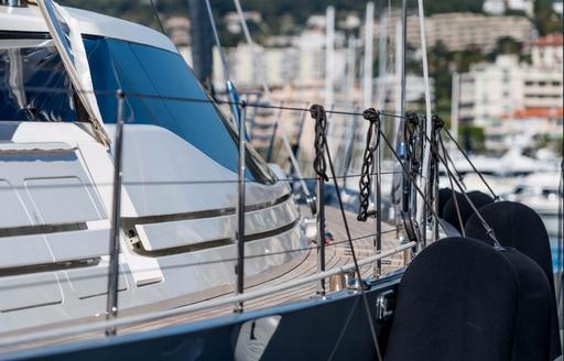 yacht details at the Cannes Yachting Festival 2017