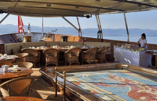 Christina O main deck pool area
