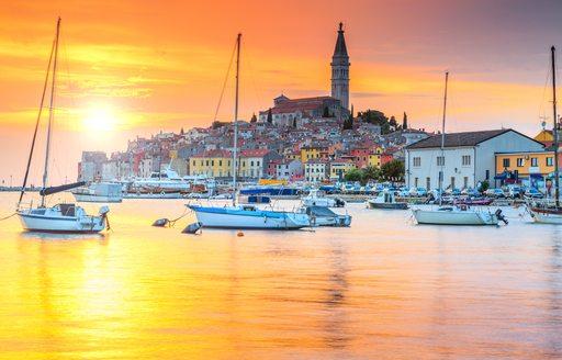 Beautful town of Rovinj in Croatia