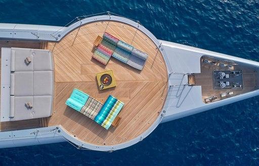 helipad on luxury motor yacht geco